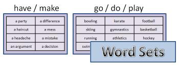 Word sets